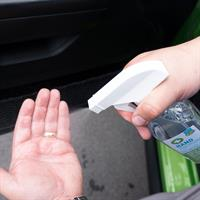 Hand Sanitizer in use