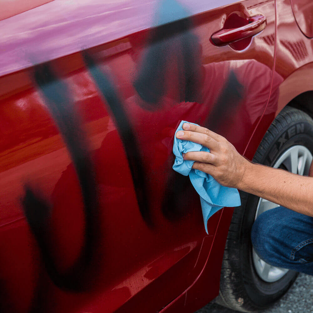 Learn how to remove spray paint and graffiti from cars and vehicles